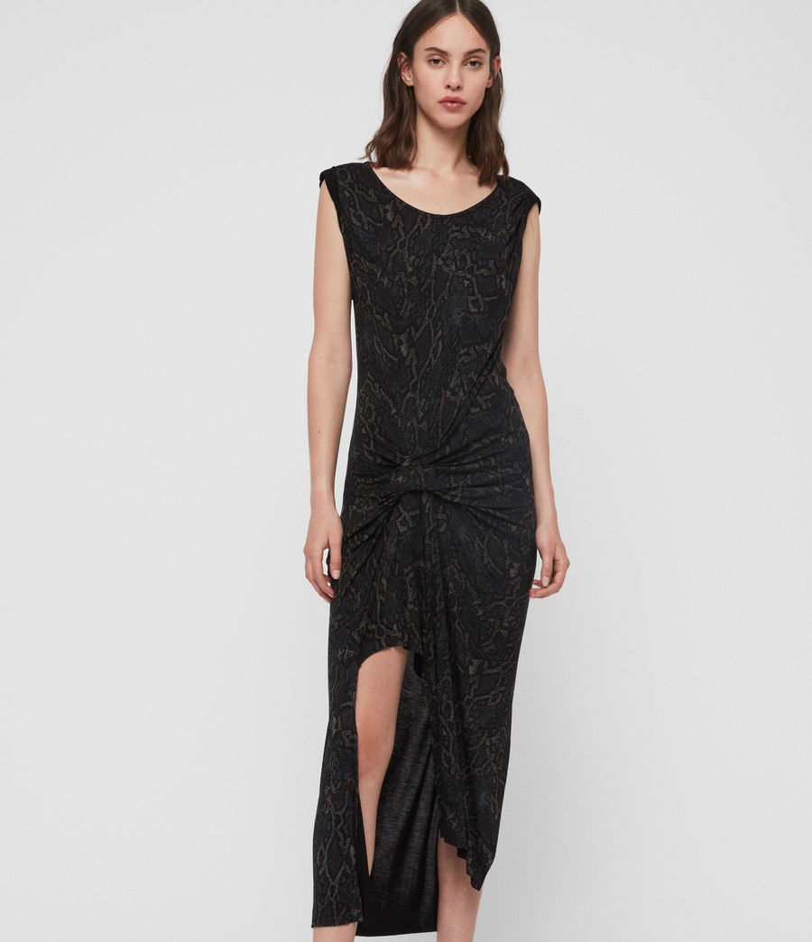 Damen Snakecharm Riviera Kleid (black) - Image 4