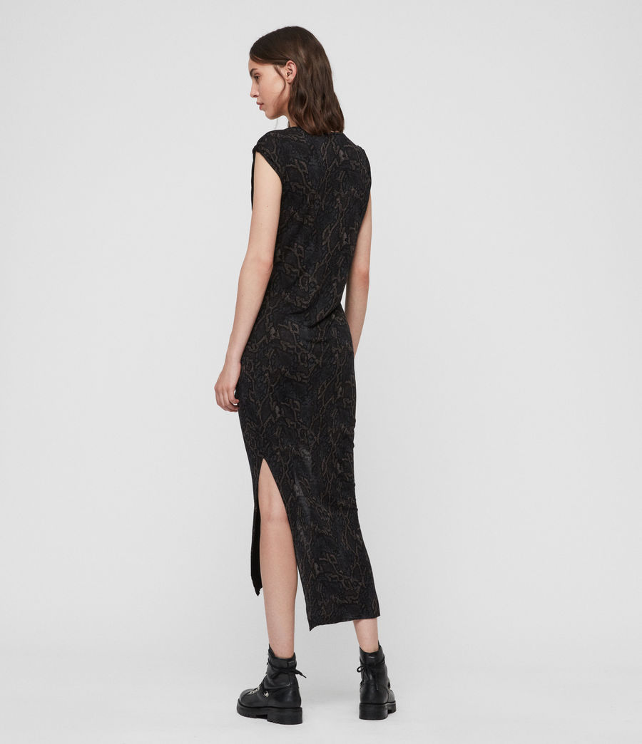 Women's Snakecharm Riviera Dress (black) - Image 5