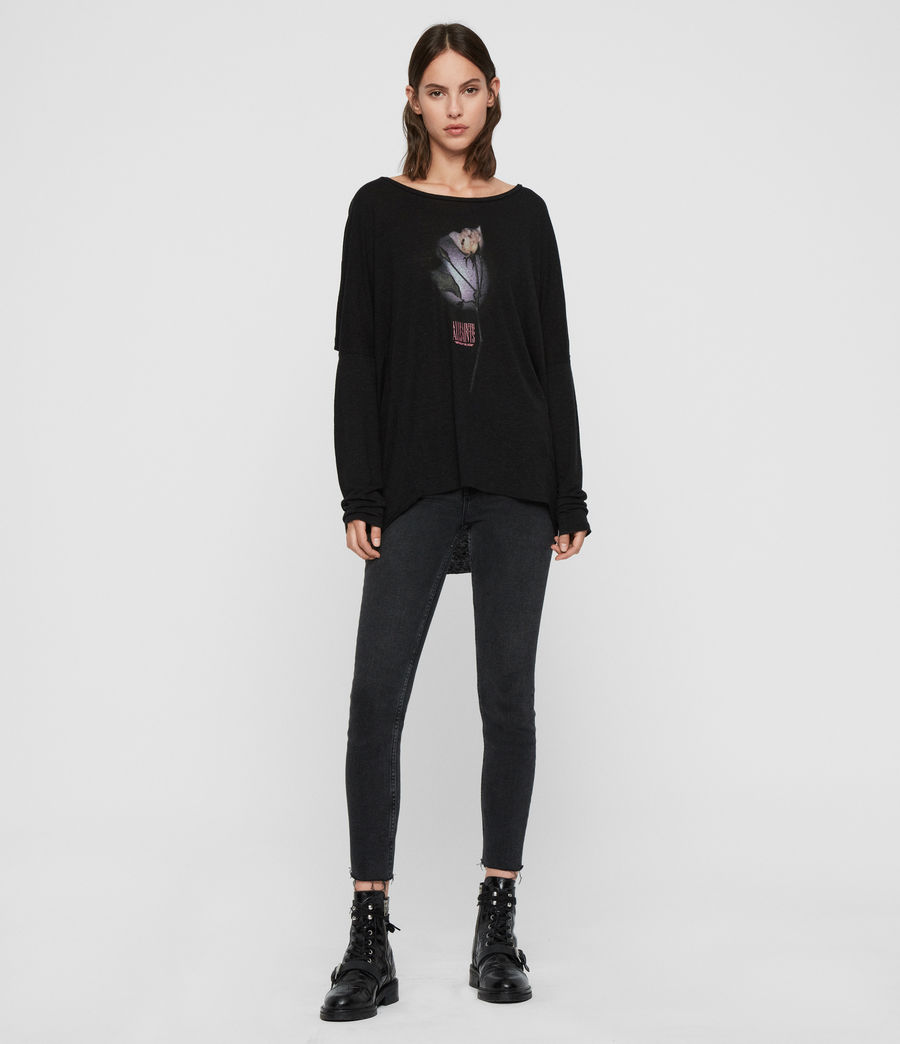 Womens Midnight Wave T-Shirt (black) - Image 3