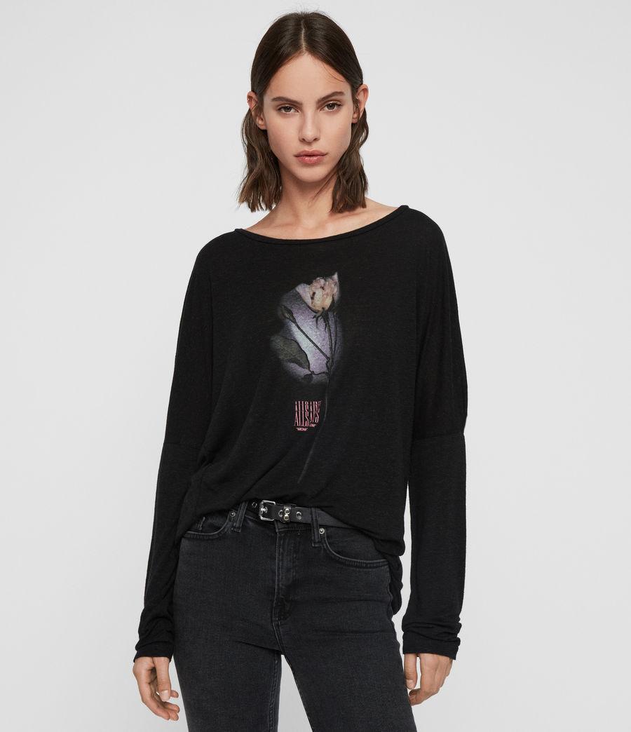 Womens Midnight Wave T-Shirt (black) - Image 4