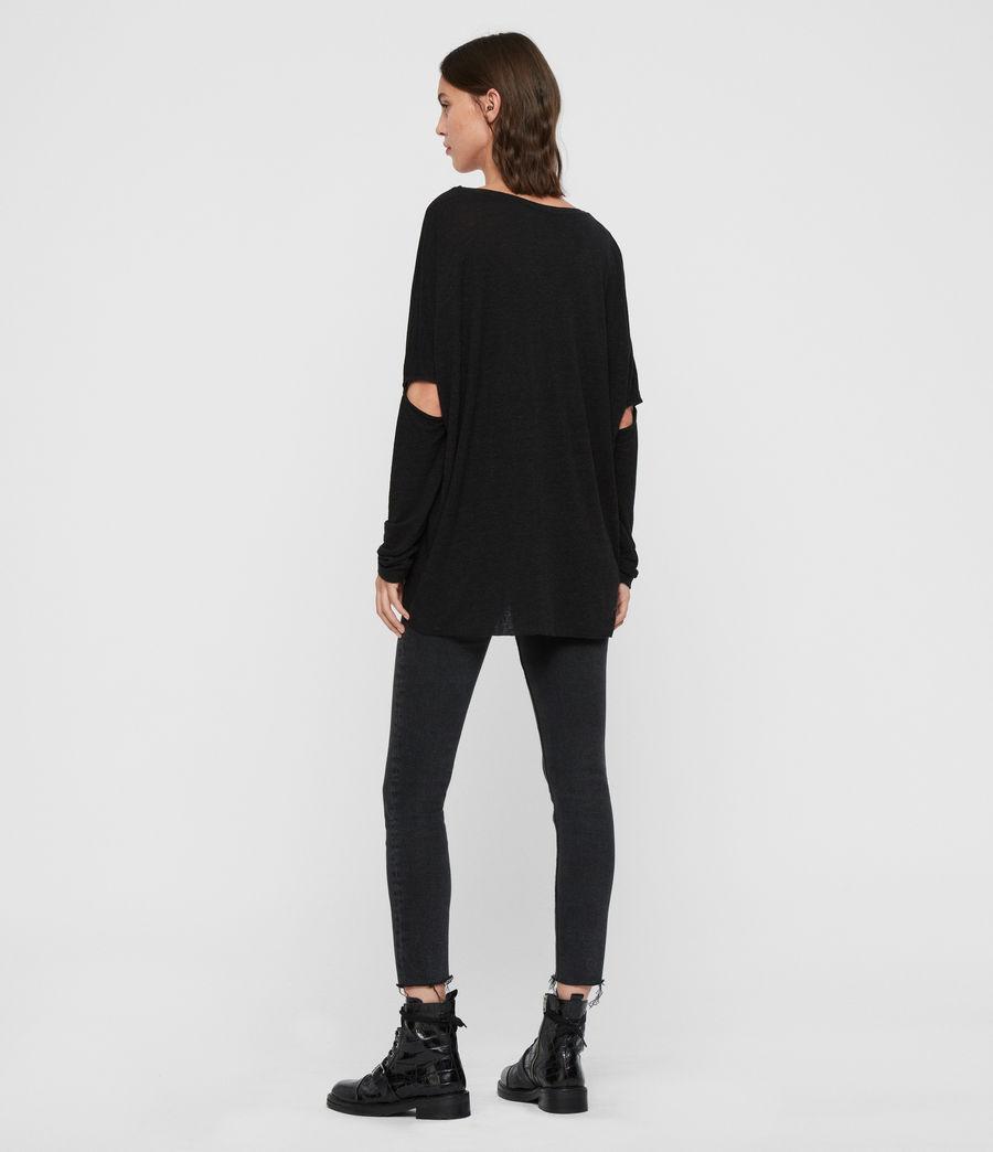 Womens Midnight Wave T-Shirt (black) - Image 5