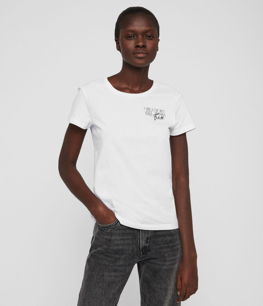 Womens IWD Fun T-Shirt (optic_white) - Image 1