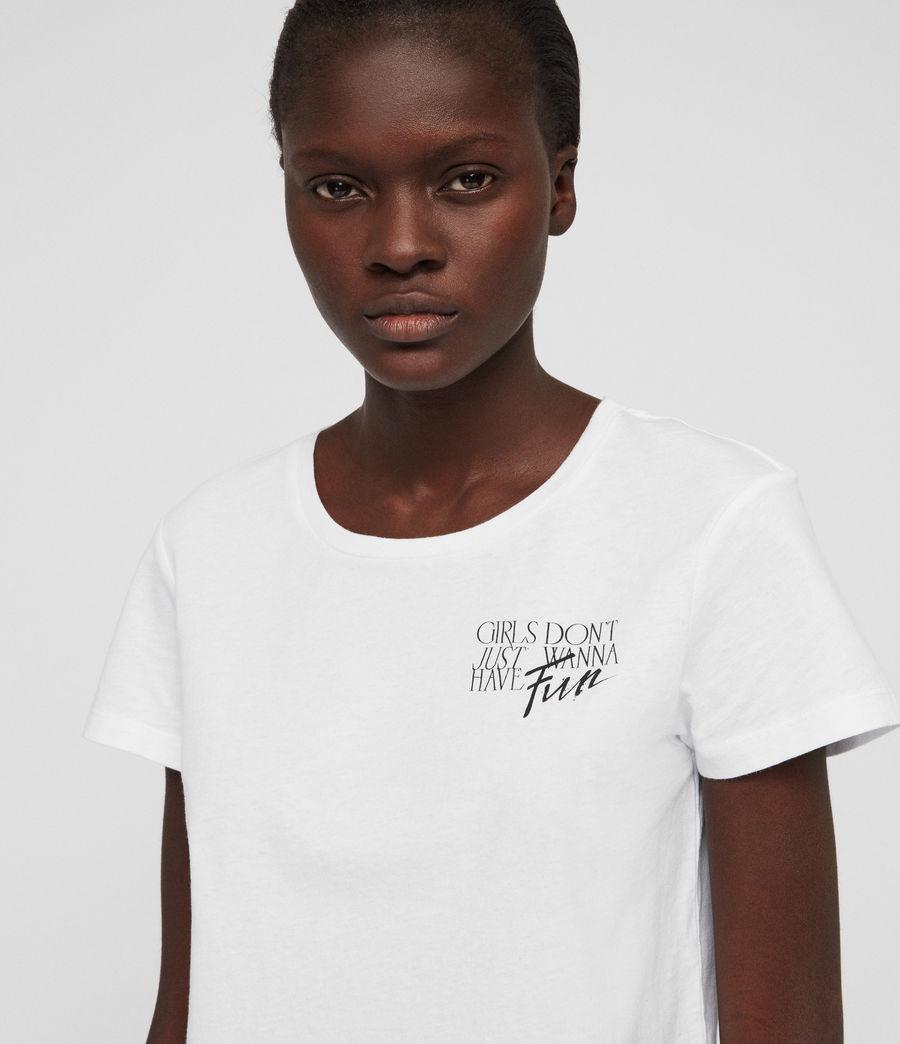 Womens IWD Fun T-Shirt (optic_white) - Image 2
