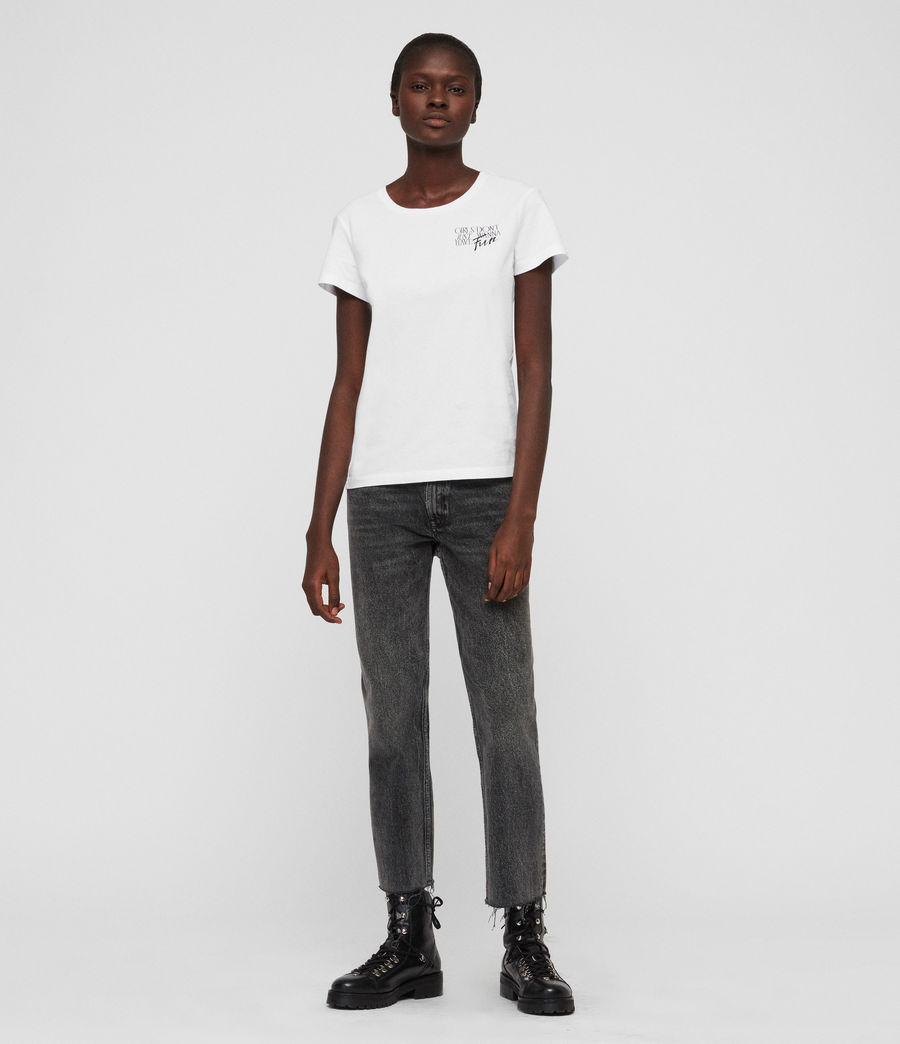 Womens IWD Fun T-Shirt (optic_white) - Image 3