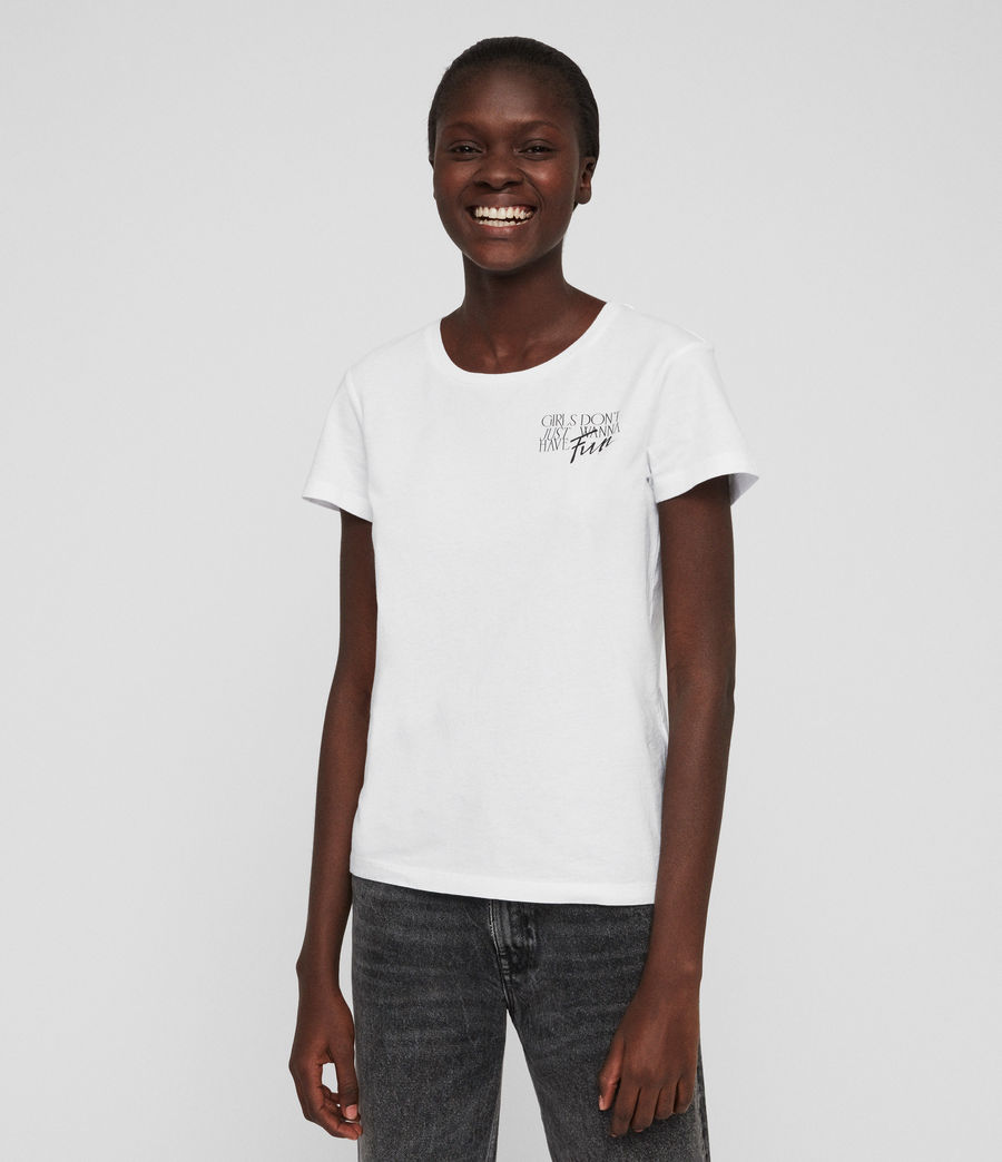 Womens IWD Fun T-Shirt (optic_white) - Image 5
