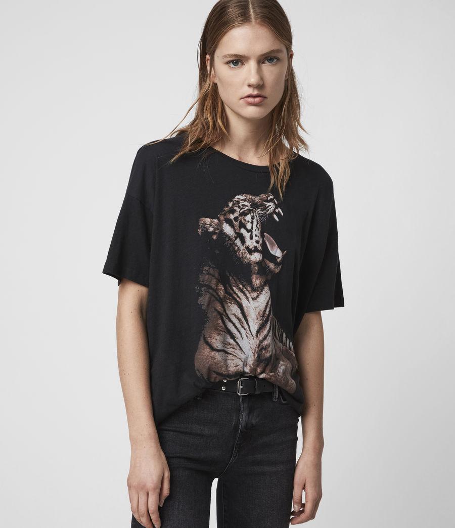 Mujer Camiseta Cori Tigress (black) - Image 1
