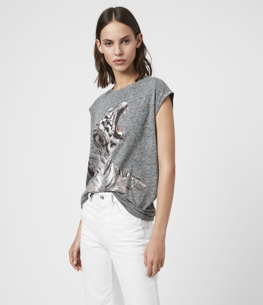 Womens Tigress Brooke Tank (grey_marl) - Image 3