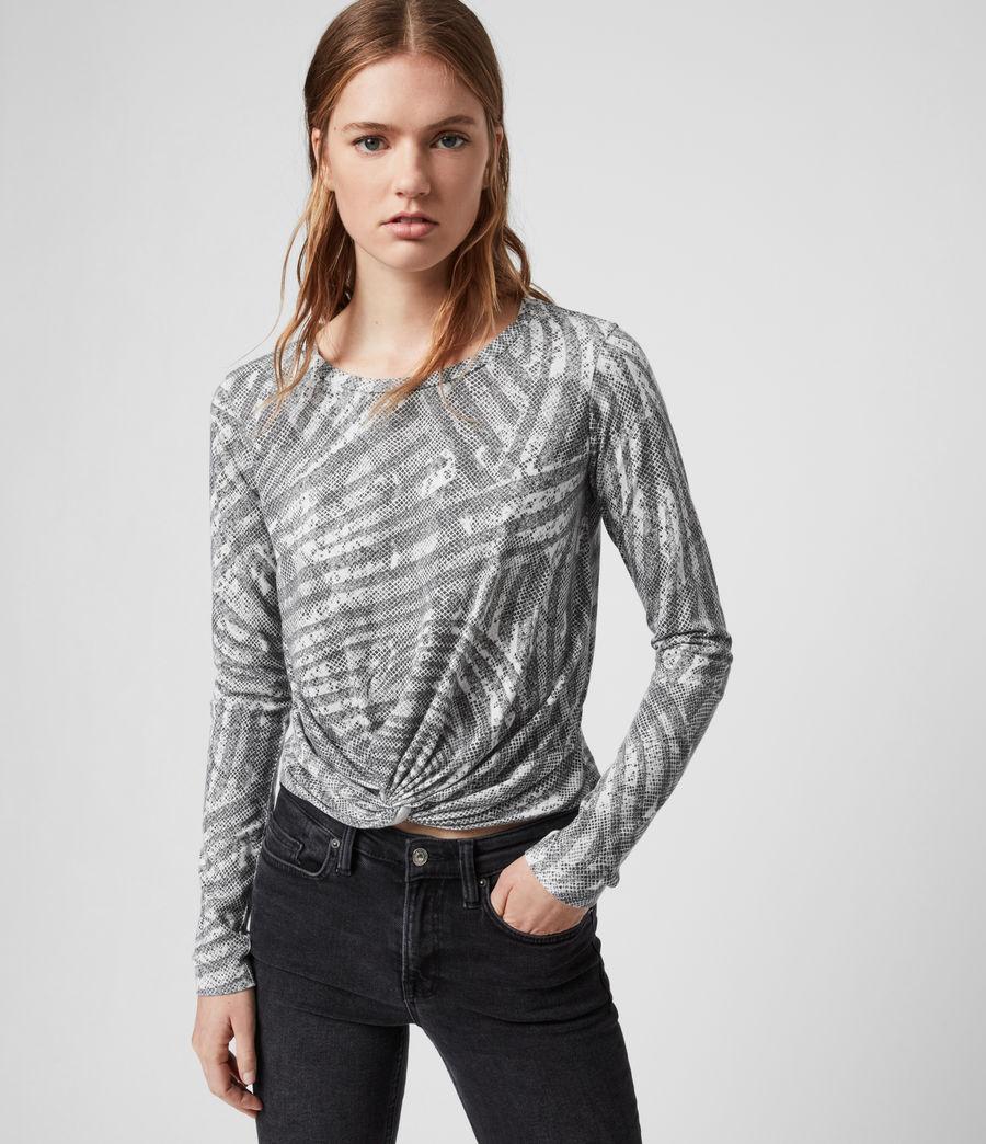 Damen Zake Carme Ls T-Shirts (grey) - Image 1