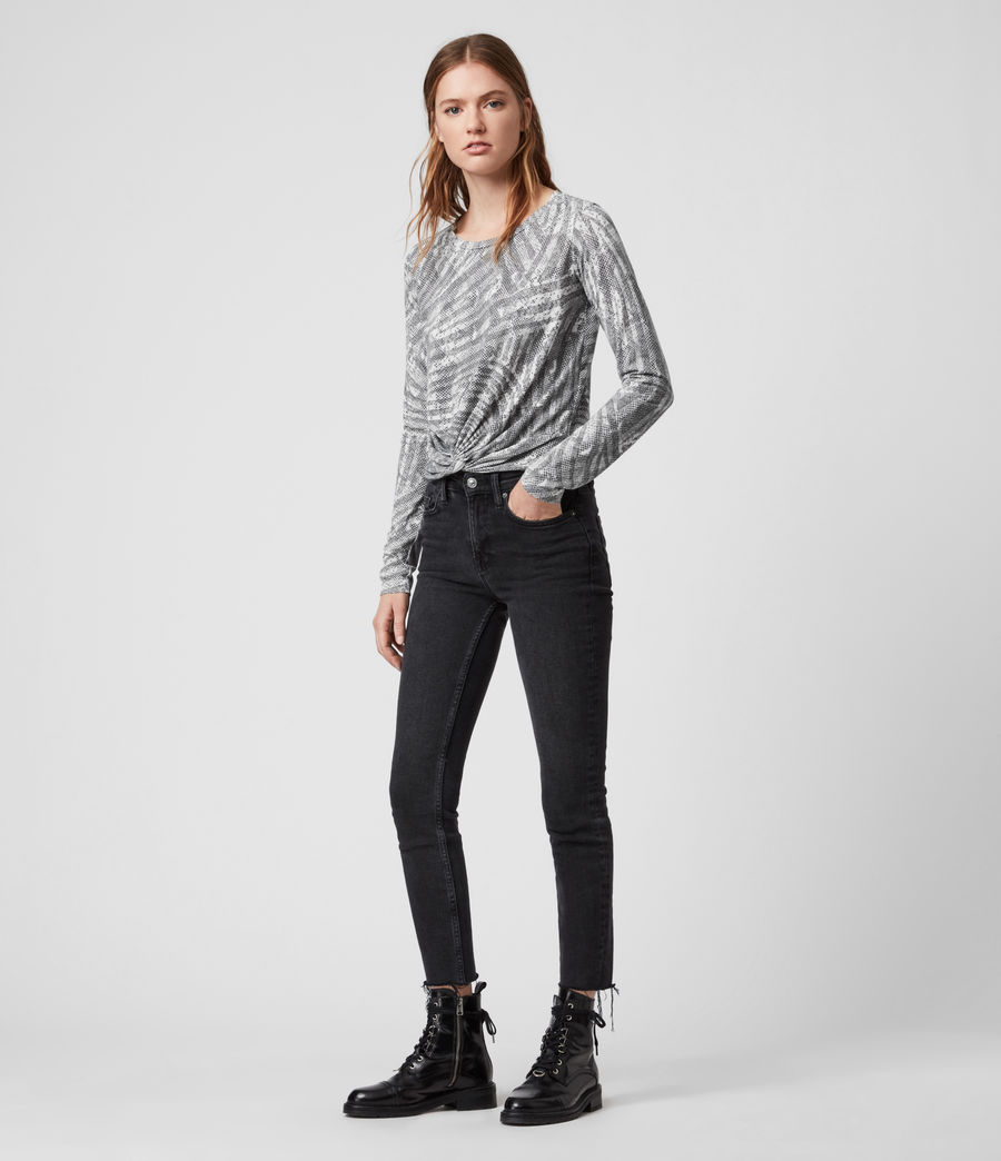 Damen Zake Carme Ls T-Shirts (grey) - Image 3