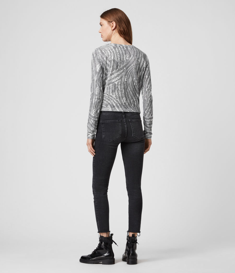 Damen Zake Carme Ls T-Shirts (grey) - Image 4