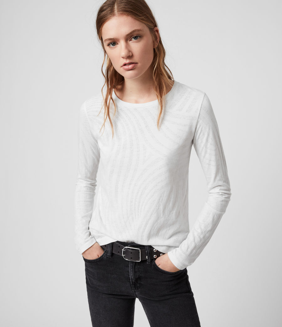Womens Zake Esme T-Shirt (smog_white) - Image 1