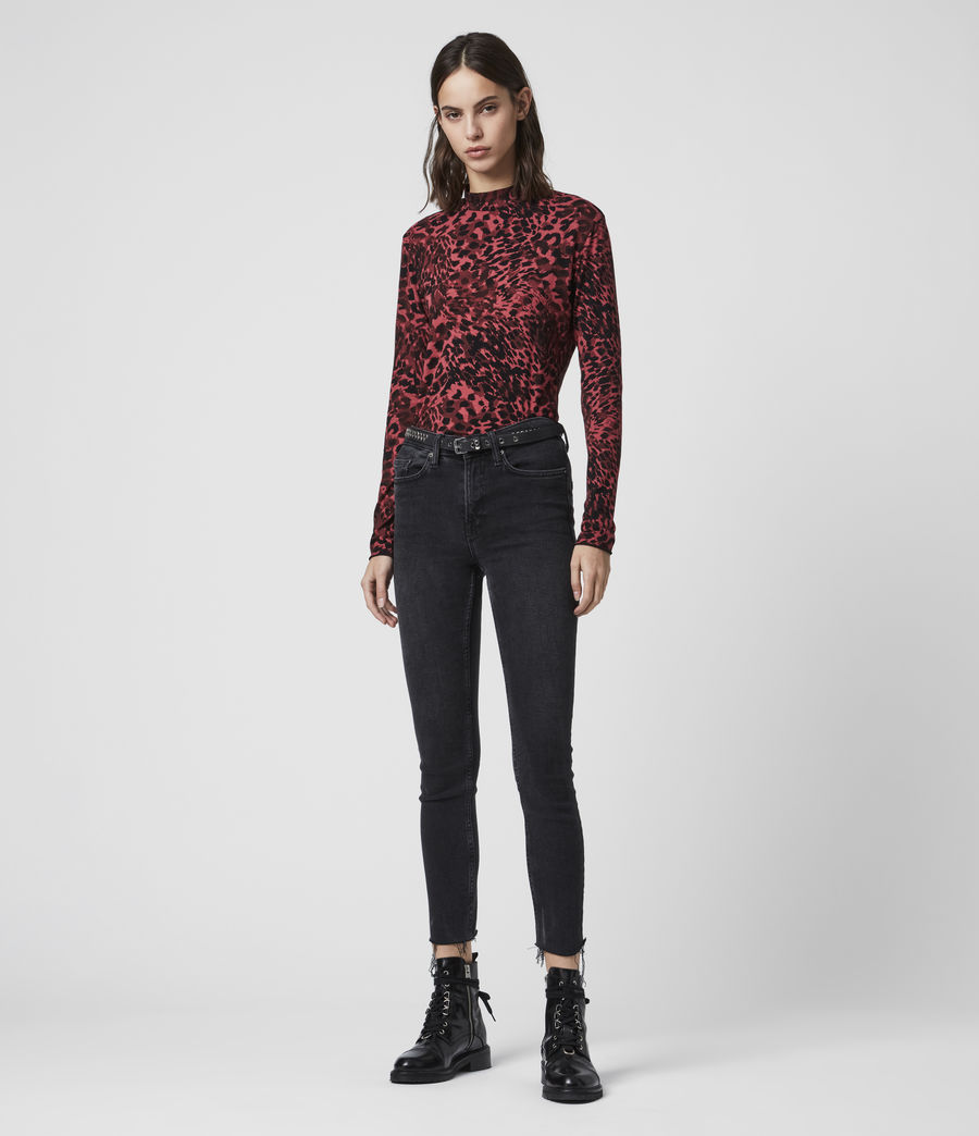 Damen Redar Kiara Ls T-Shirt (red) - Image 3