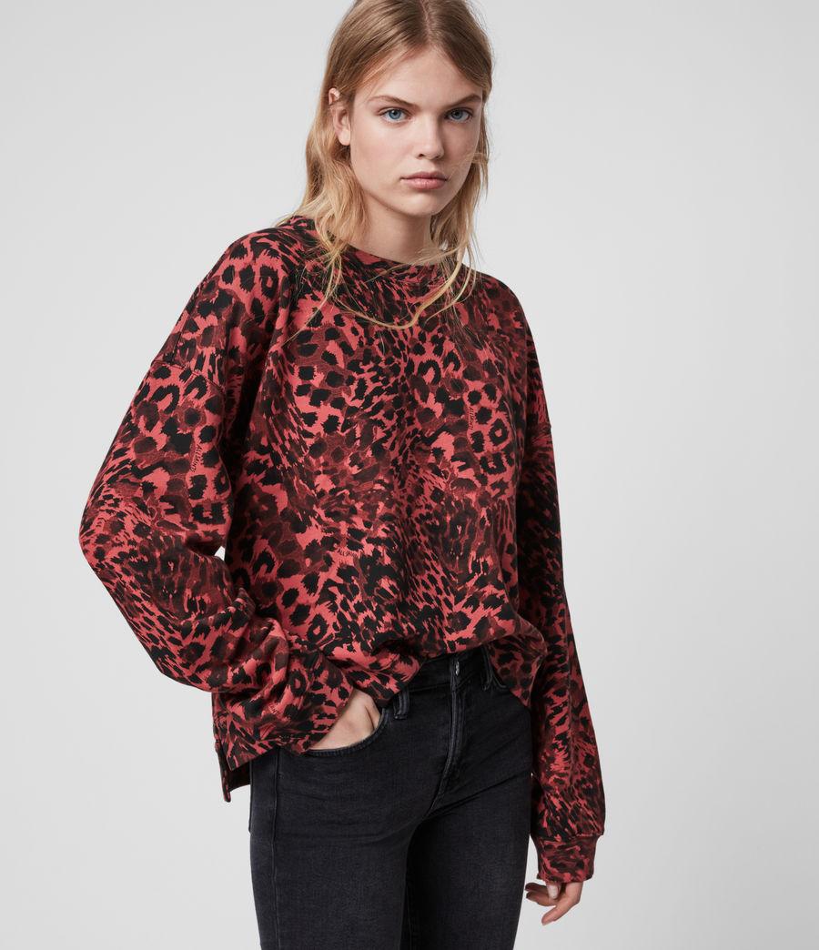 Damen Redar Sweatshirt (red) - Image 1