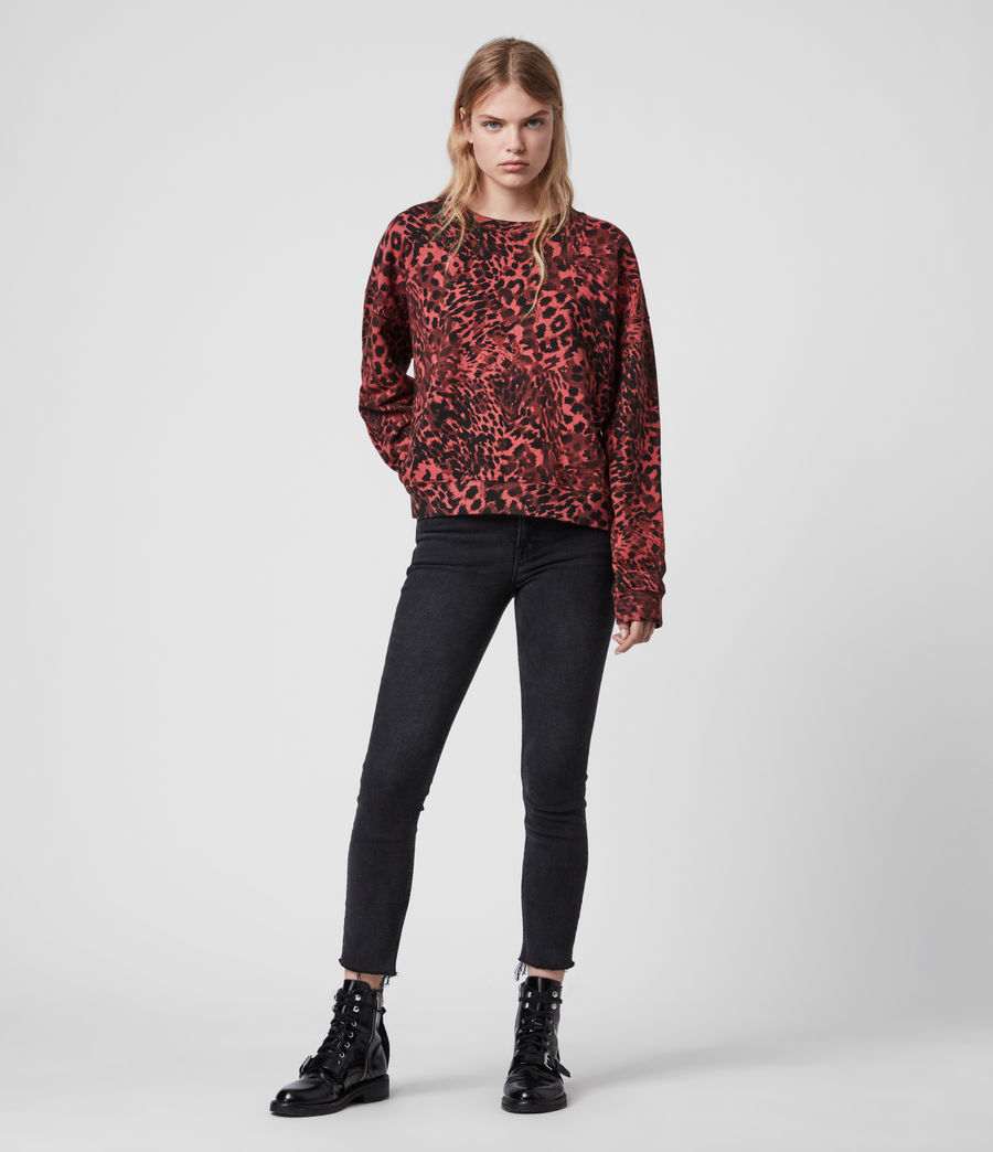 Damen Redar Sweatshirt (red) - Image 2