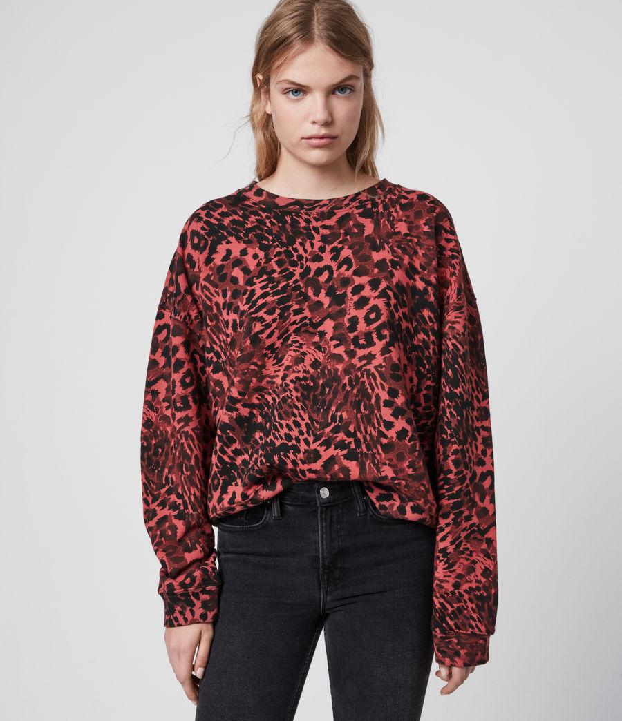 Damen Redar Sweatshirt (red) - Image 4