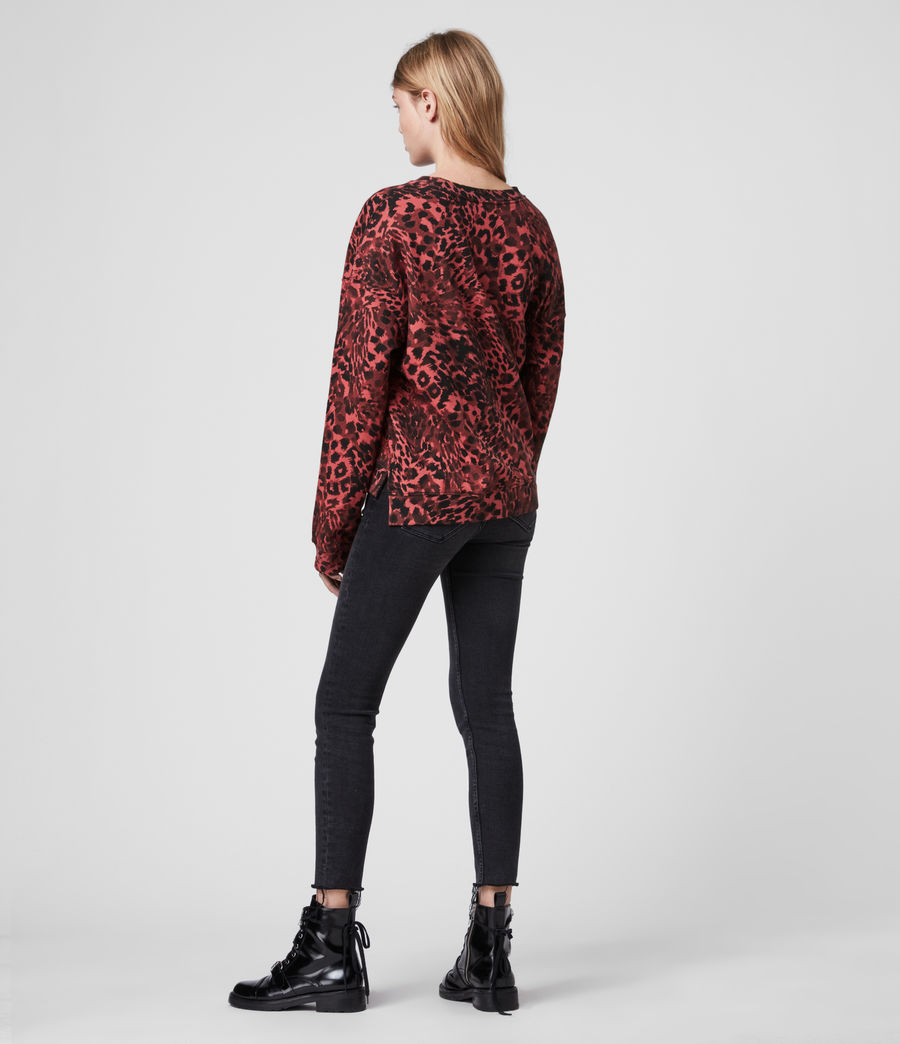 Damen Redar Sweatshirt (red) - Image 5