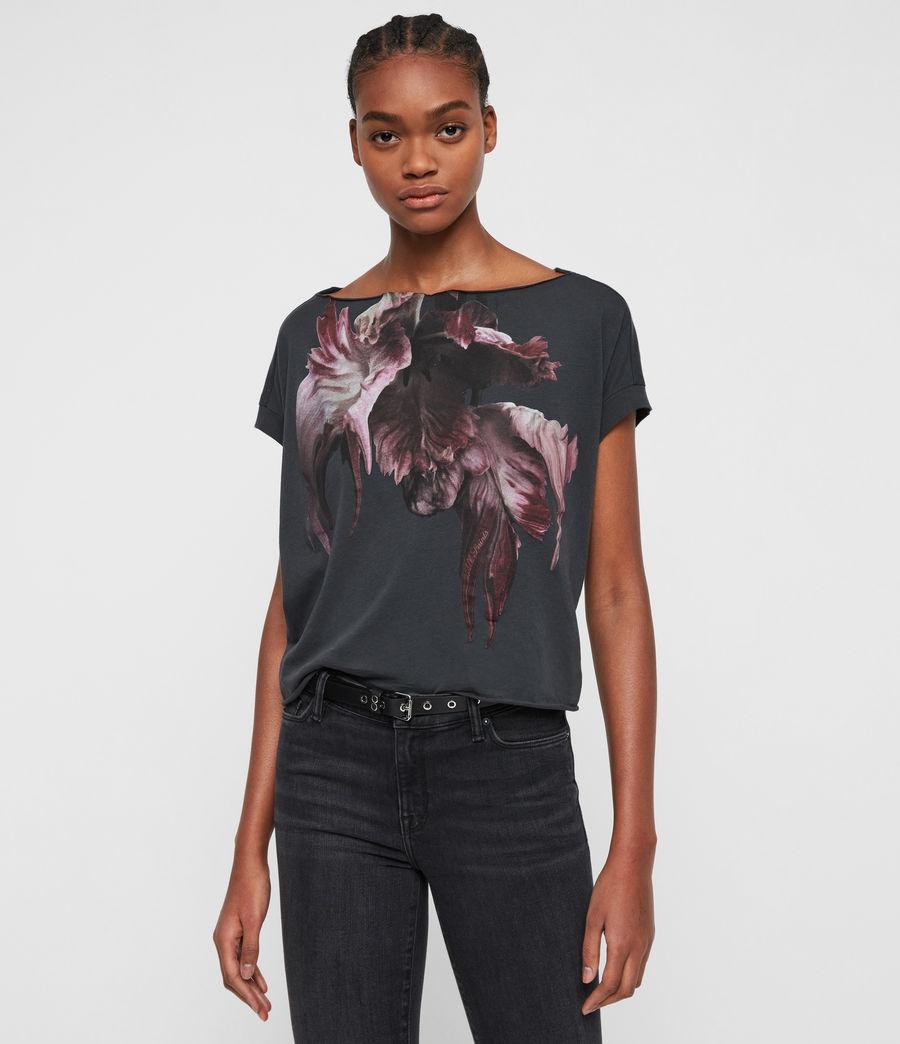 Femmes T-Shirt Manches Courtes Tulipa Pina (washed_black) - Image 1