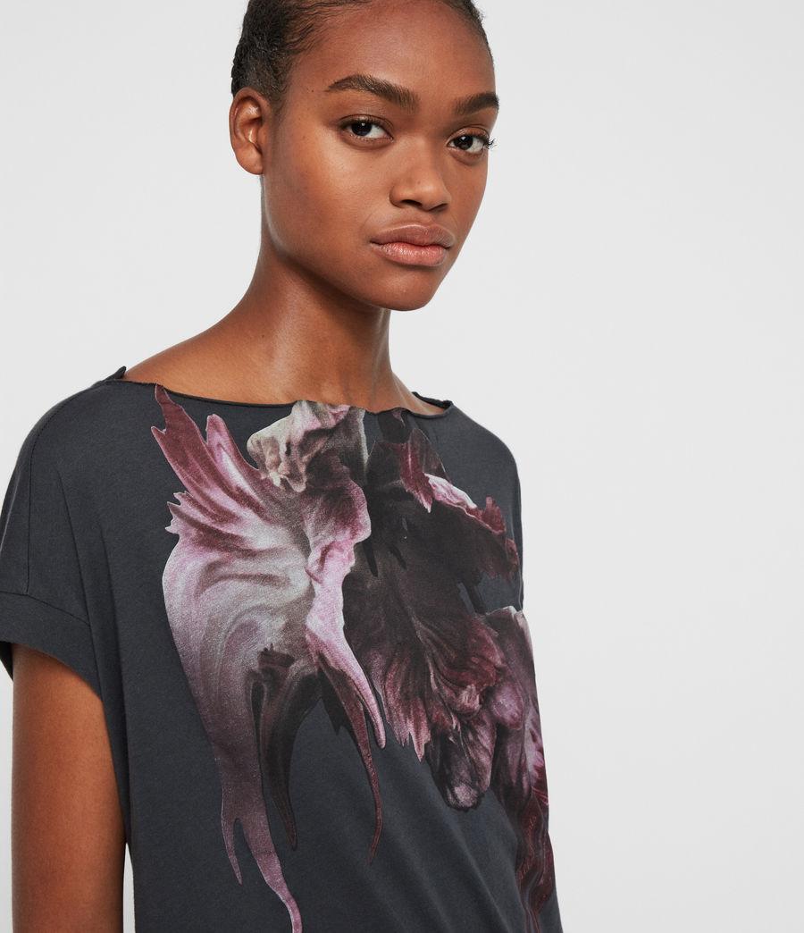 Femmes T-Shirt Manches Courtes Tulipa Pina (washed_black) - Image 2