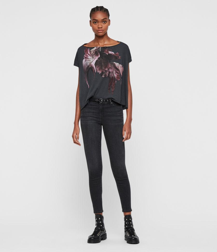 Femmes T-Shirt Manches Courtes Tulipa Pina (washed_black) - Image 3