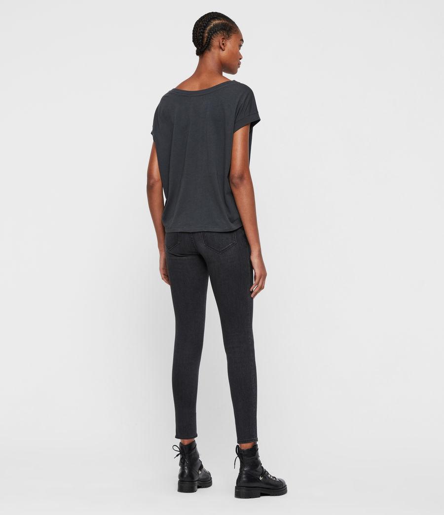 Femmes T-Shirt Manches Courtes Tulipa Pina (washed_black) - Image 5
