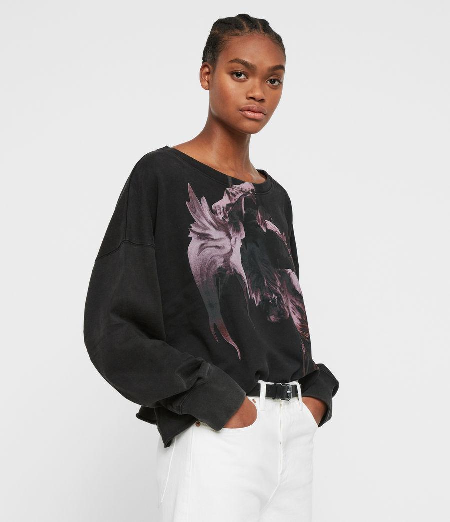 Women's Tulipa Piro Sweatshirt (fadeout_black) - Image 1