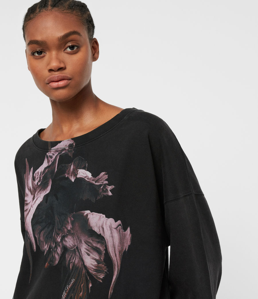 Women's Tulipa Piro Sweatshirt (fadeout_black) - Image 2
