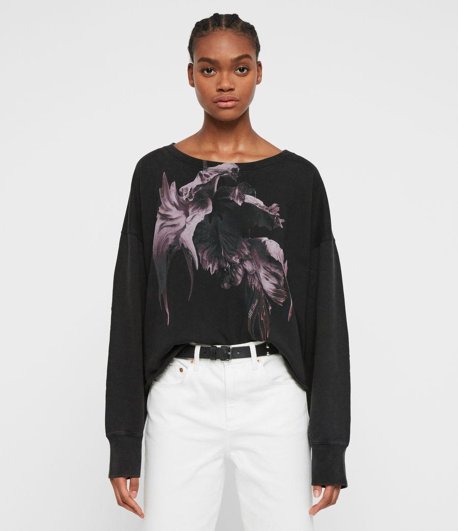 Women's Tulipa Piro Sweatshirt (fadeout_black) - Image 4