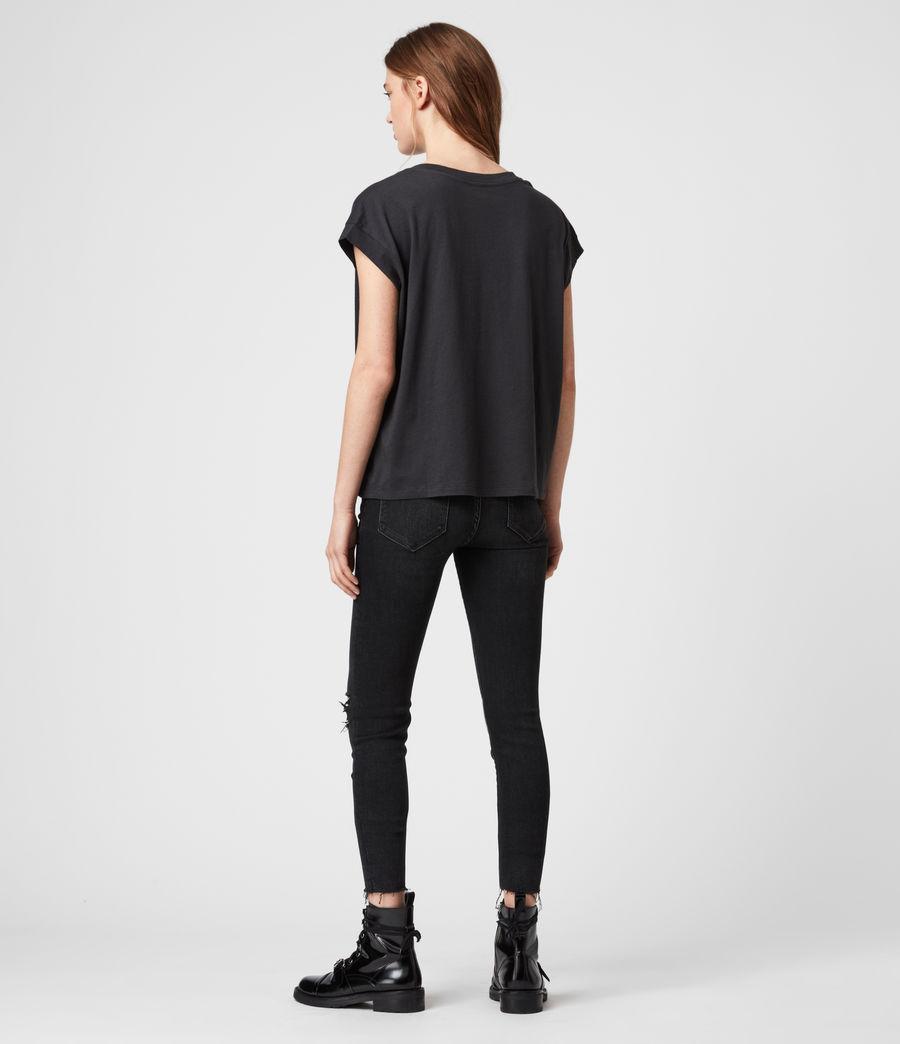 Donne T-shirt Star Pina - In cotone con appliqué a stella (black) - Image 4