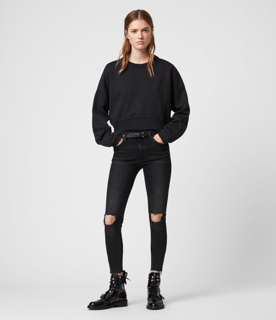 Womens Wingan Enrico Sweatshirt (black) - Image 1