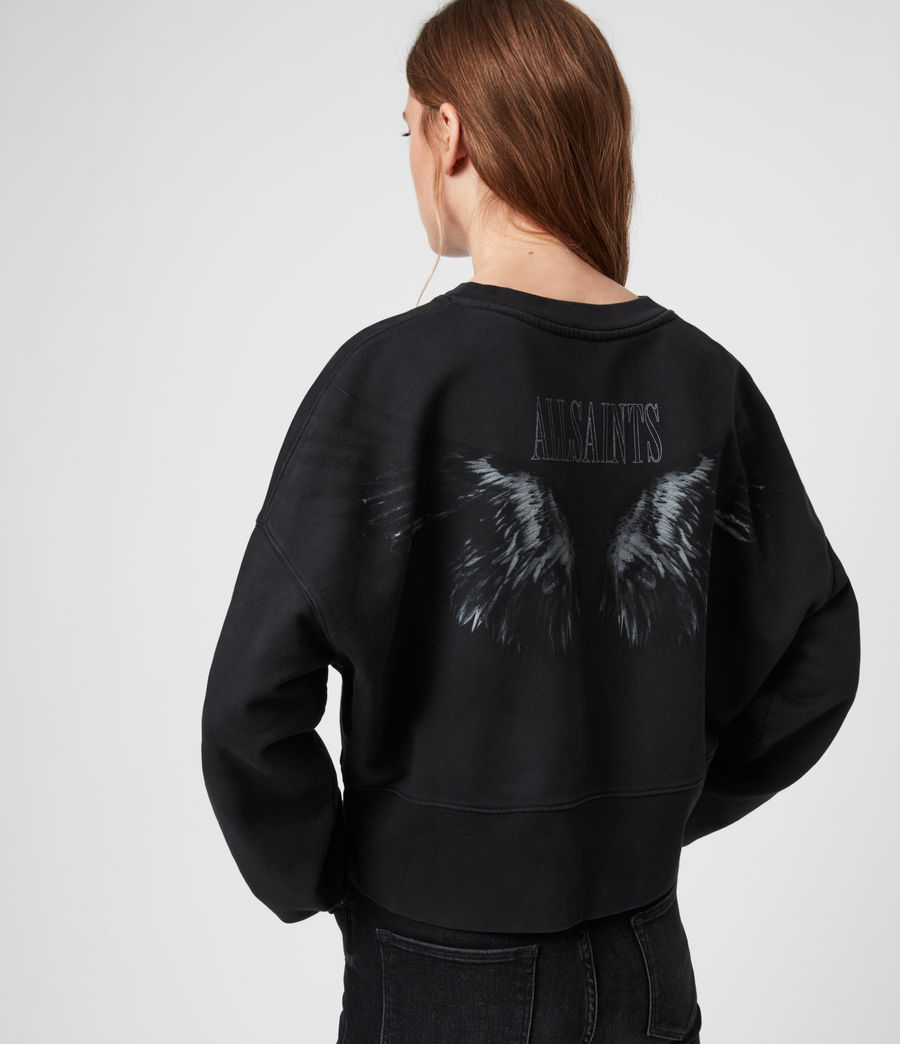Womens Wingan Enrico Sweatshirt (black) - Image 2