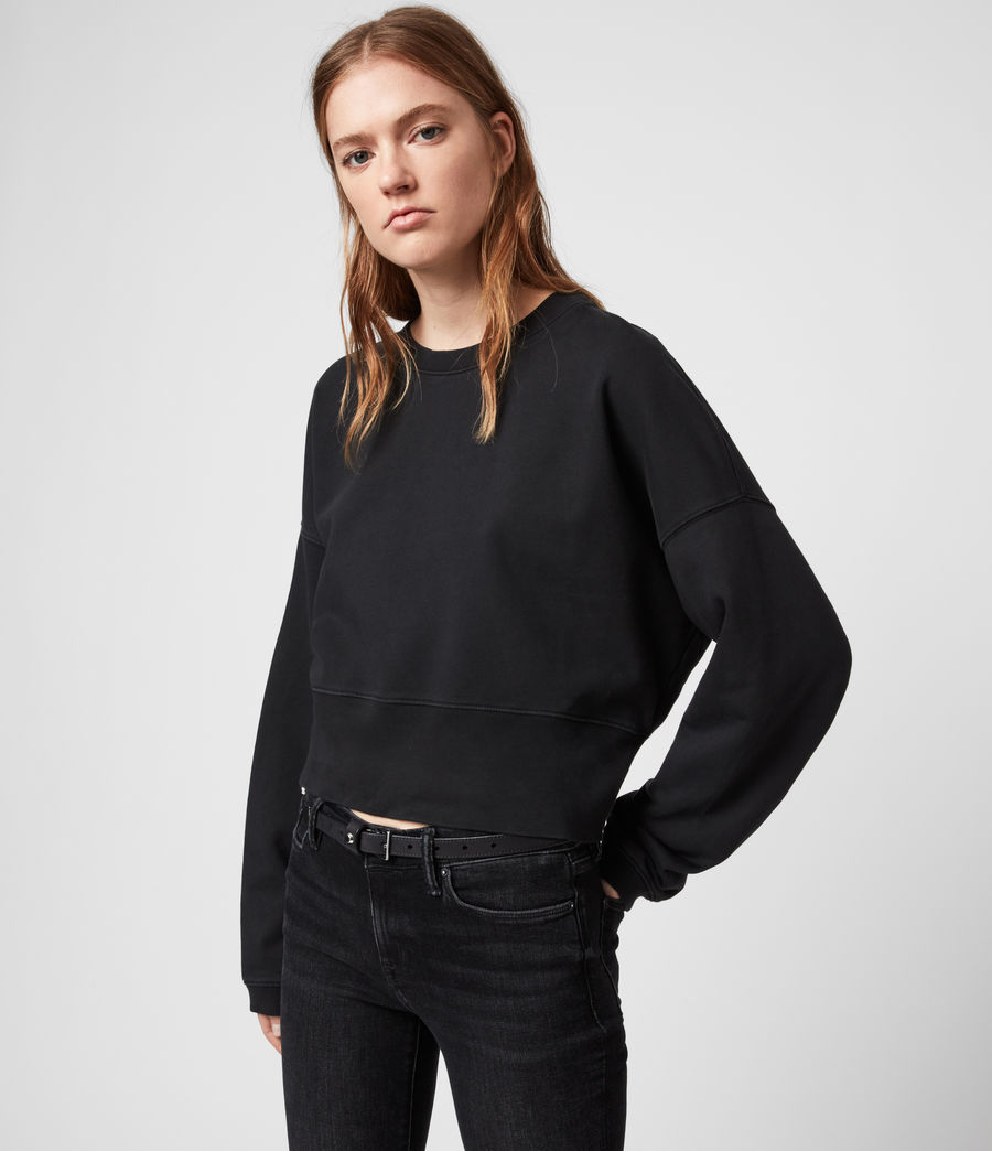 Womens Wingan Enrico Sweatshirt (black) - Image 3