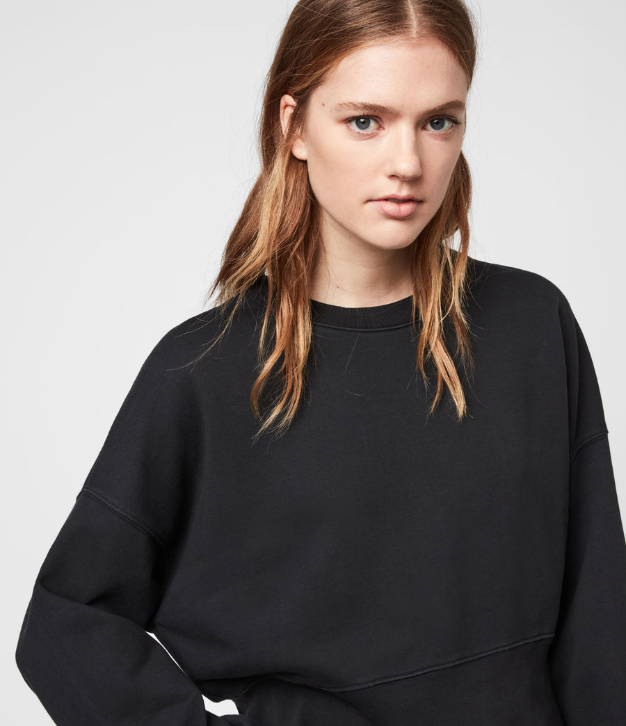 Womens Wingan Enrico Sweatshirt (black) - Image 4
