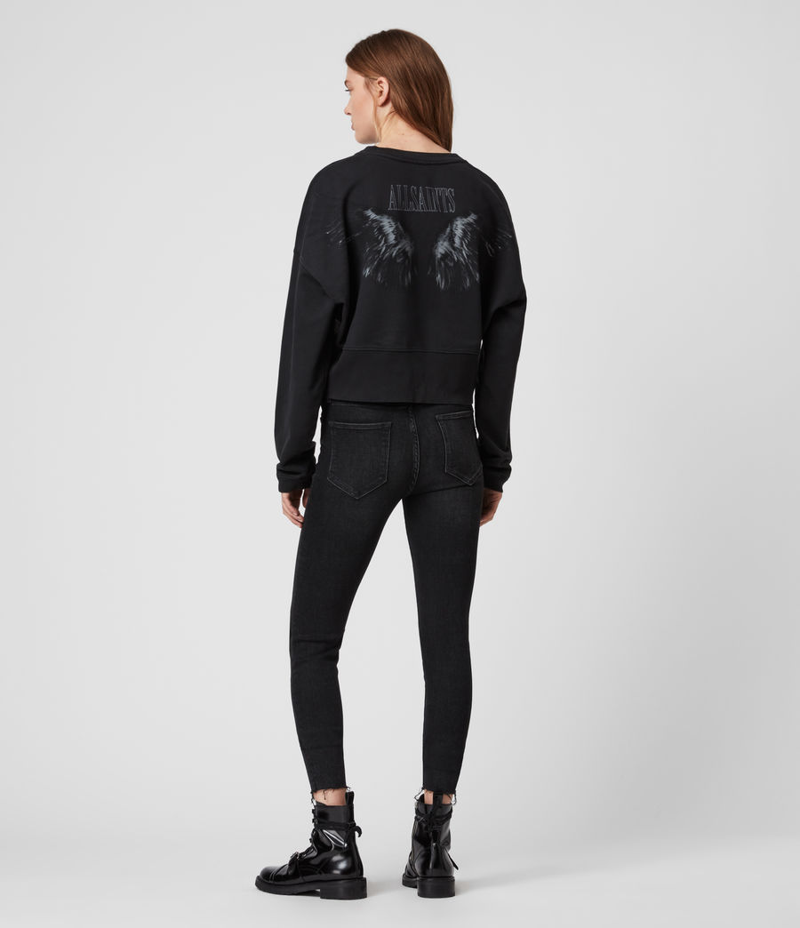 Womens Wingan Enrico Sweatshirt (black) - Image 5