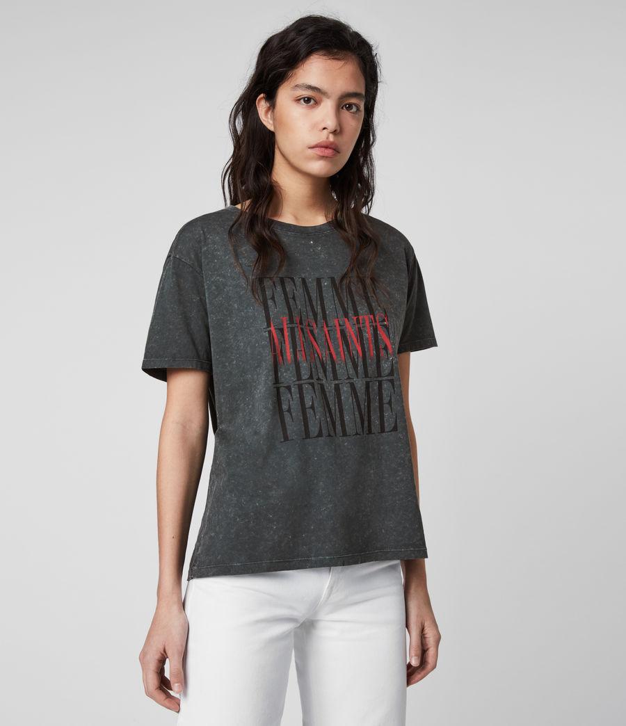Women's Femme Dima T-Shirt (washed_black) - Image 1