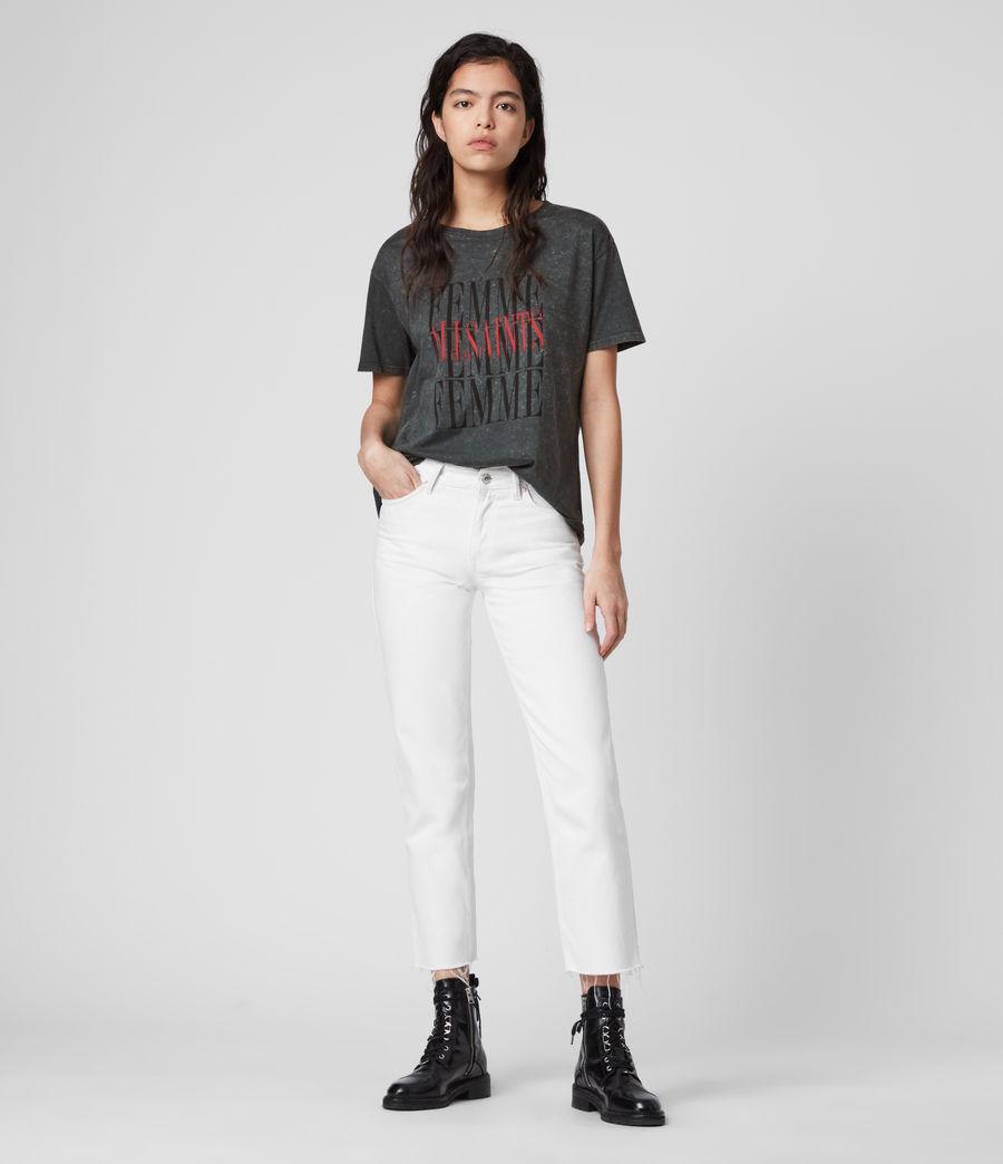 Damen Femme Dima T-Shirt (washed_black) - Image 3