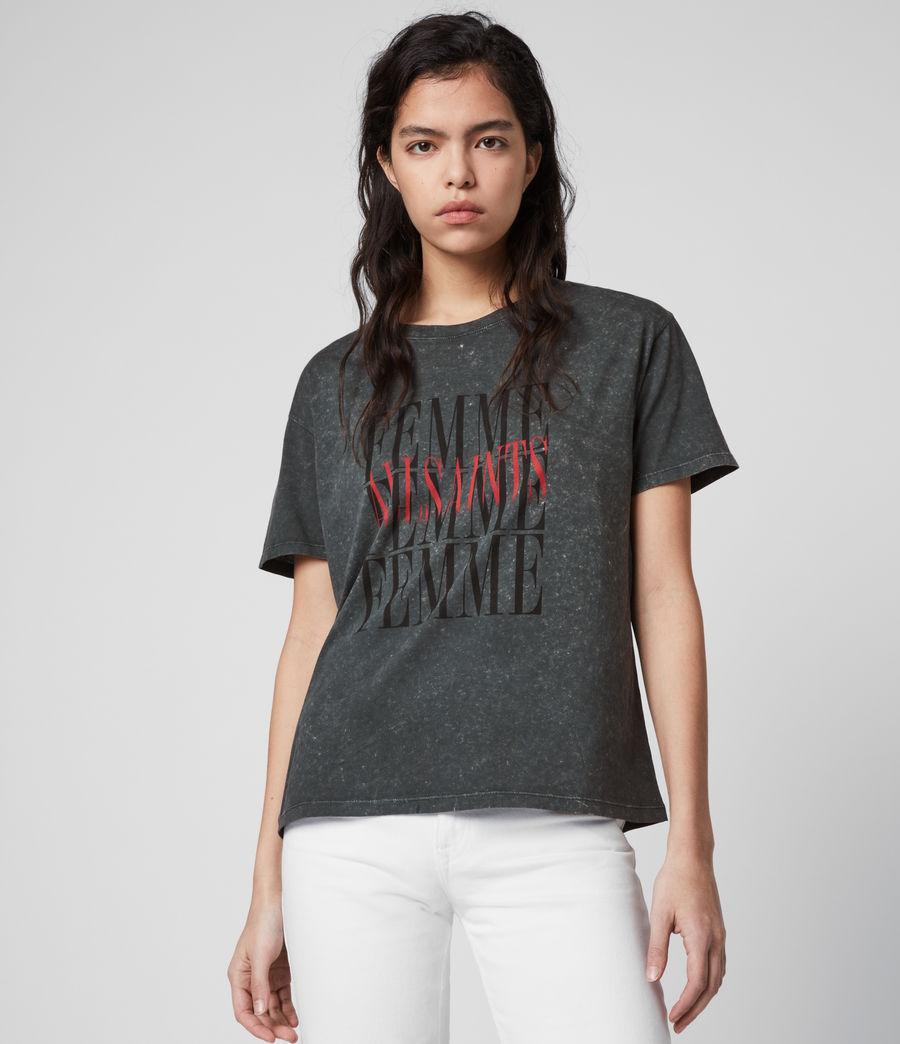 Women's Femme Dima T-Shirt (washed_black) - Image 4