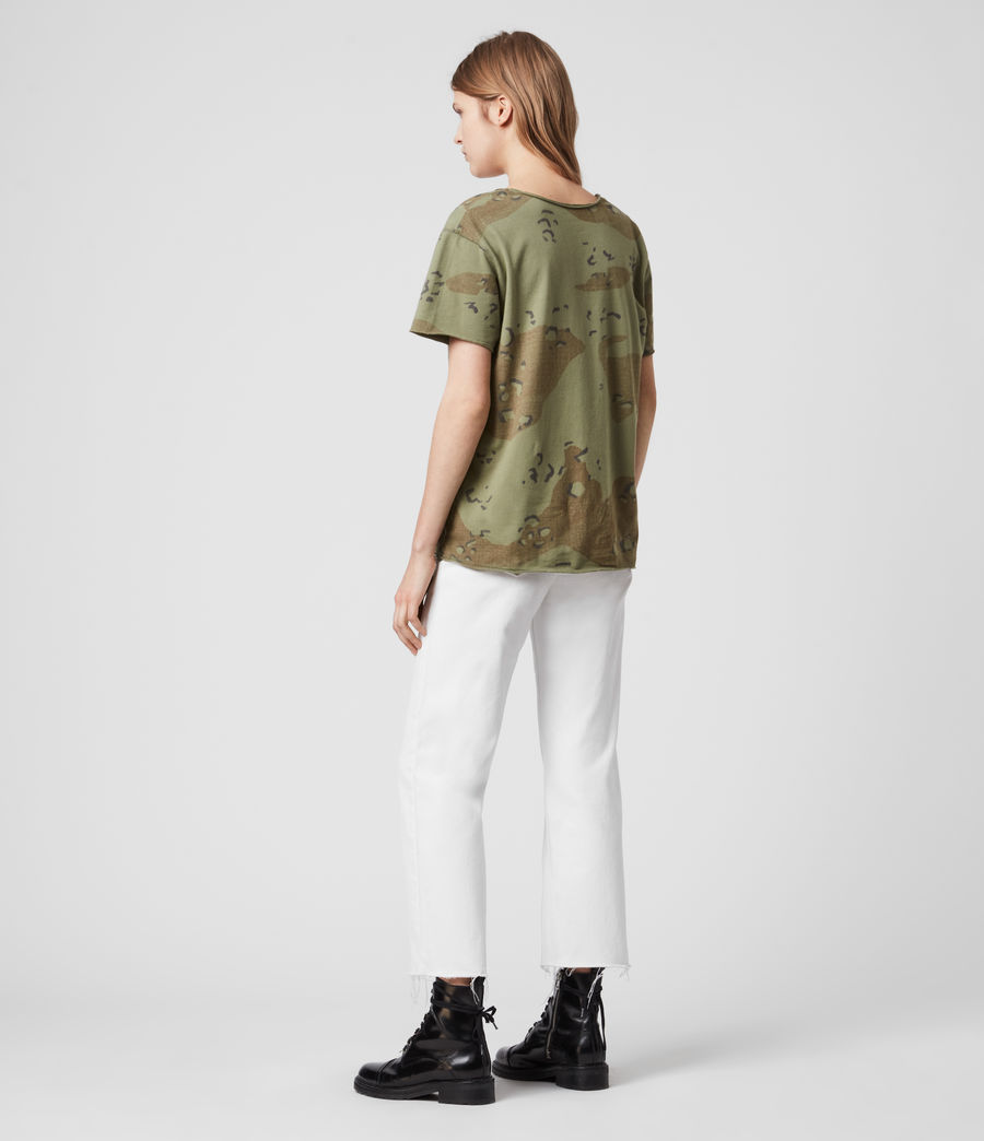 Womens Acoustic Emelyn T-Shirt (khaki_green) - Image 5