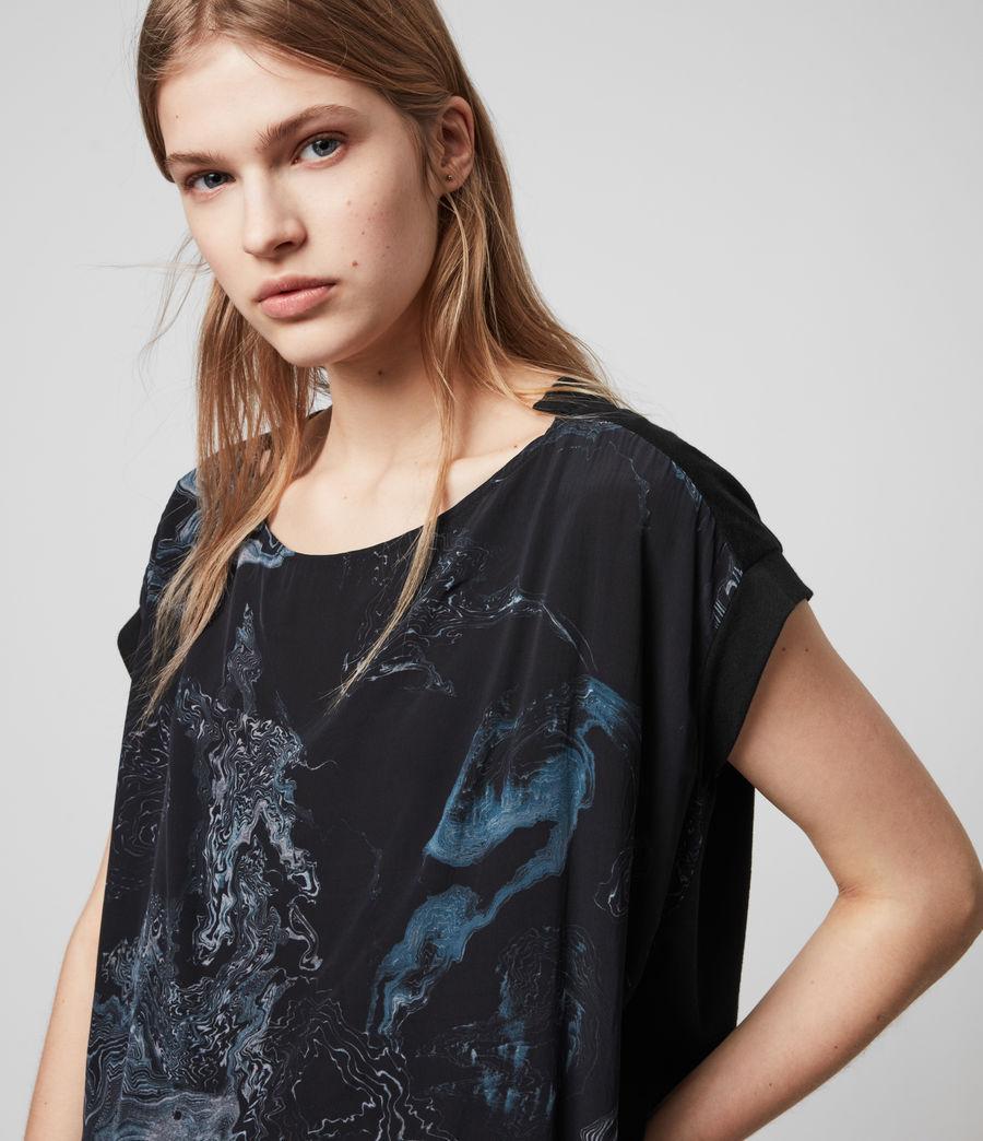 Damen Hatsukoi Pina T-Shirt (oil_black) - Image 2
