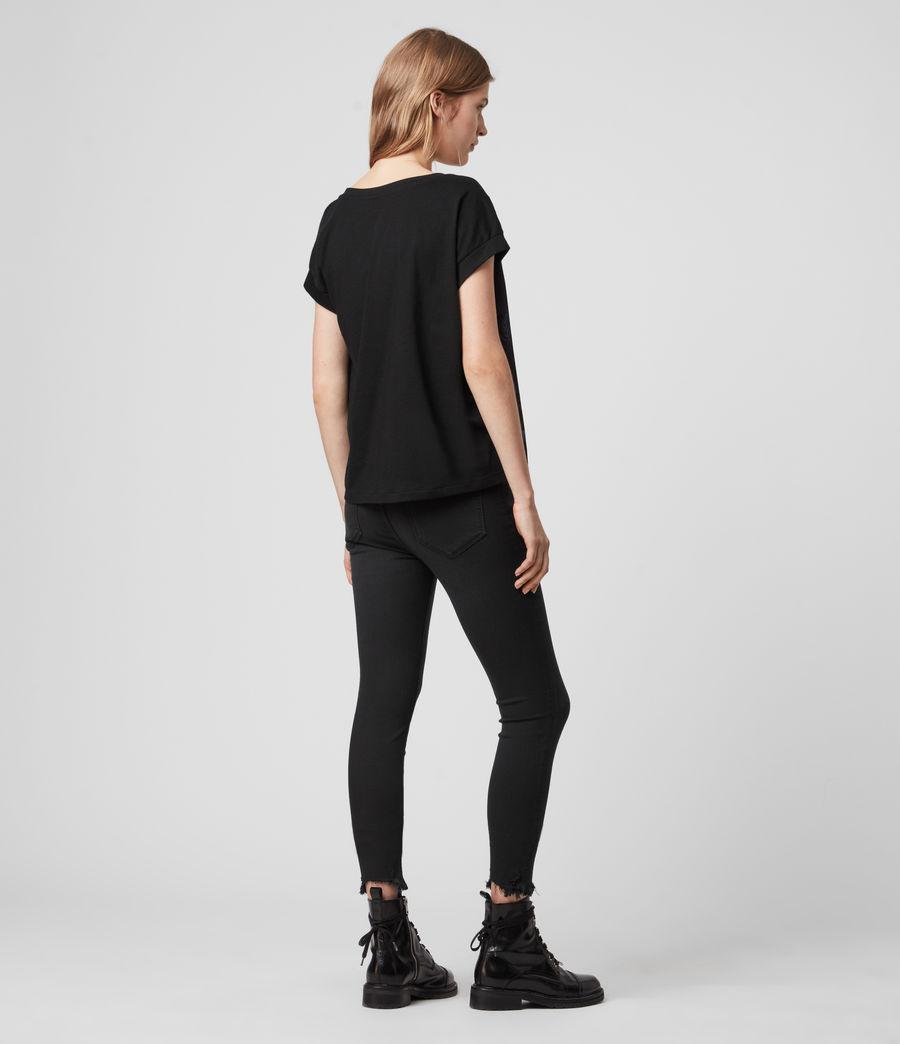 Damen Hatsukoi Pina T-Shirt (oil_black) - Image 3