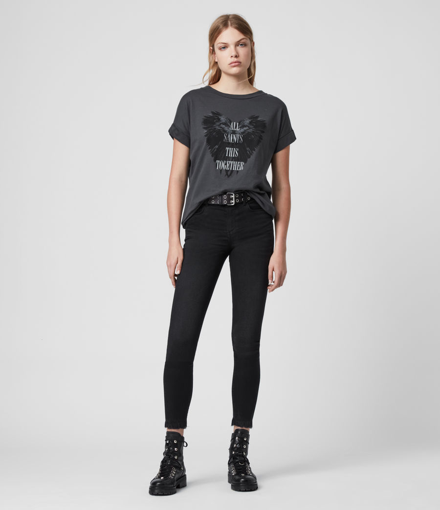 Mujer Heart Imogen Boy T-Shirt (washed_black) - Image 3