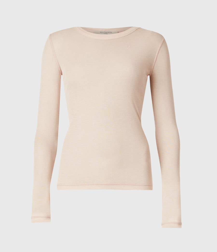 Womens Francesco Ramskull Long Sleeve T-Shirt (pale_pink) - Image 2
