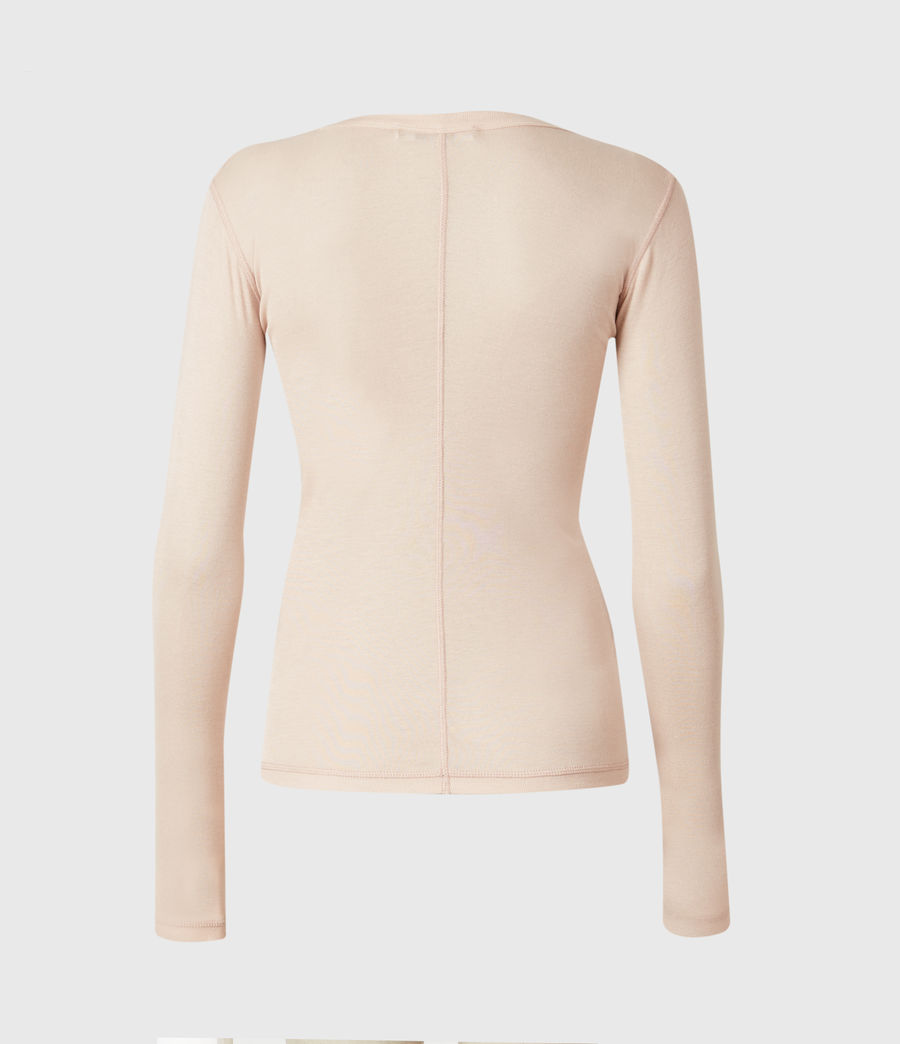 Womens Francesco Ramskull Long Sleeve T-Shirt (pale_pink) - Image 3