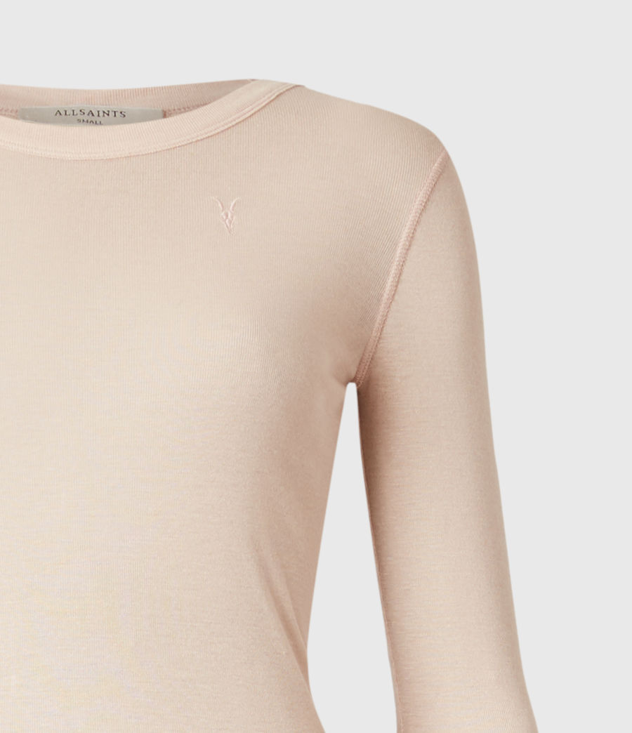 Womens Francesco Ramskull Long Sleeve T-Shirt (pale_pink) - Image 4