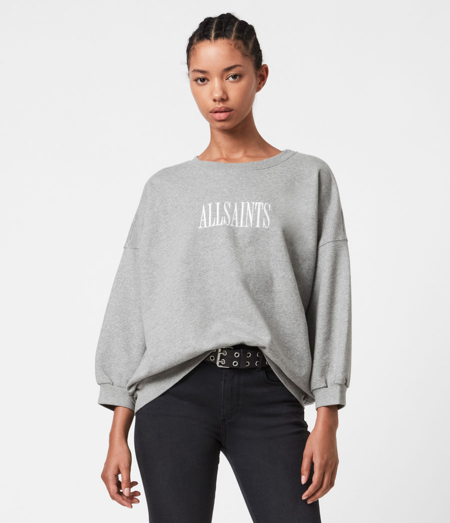 Womens Stamp Storn Sweatshirt (grey_marl) - Image 1