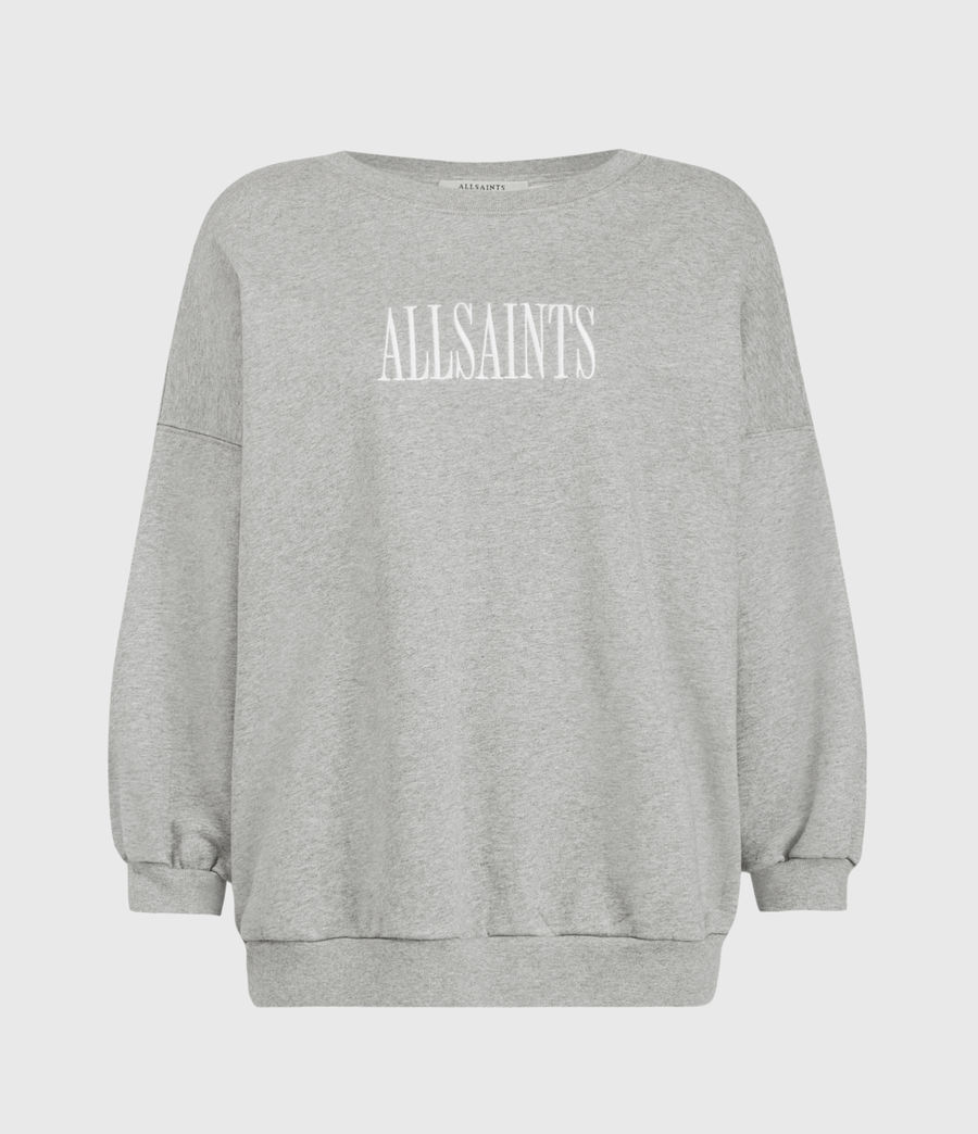 Womens Stamp Storn Sweatshirt (grey_marl) - Image 2