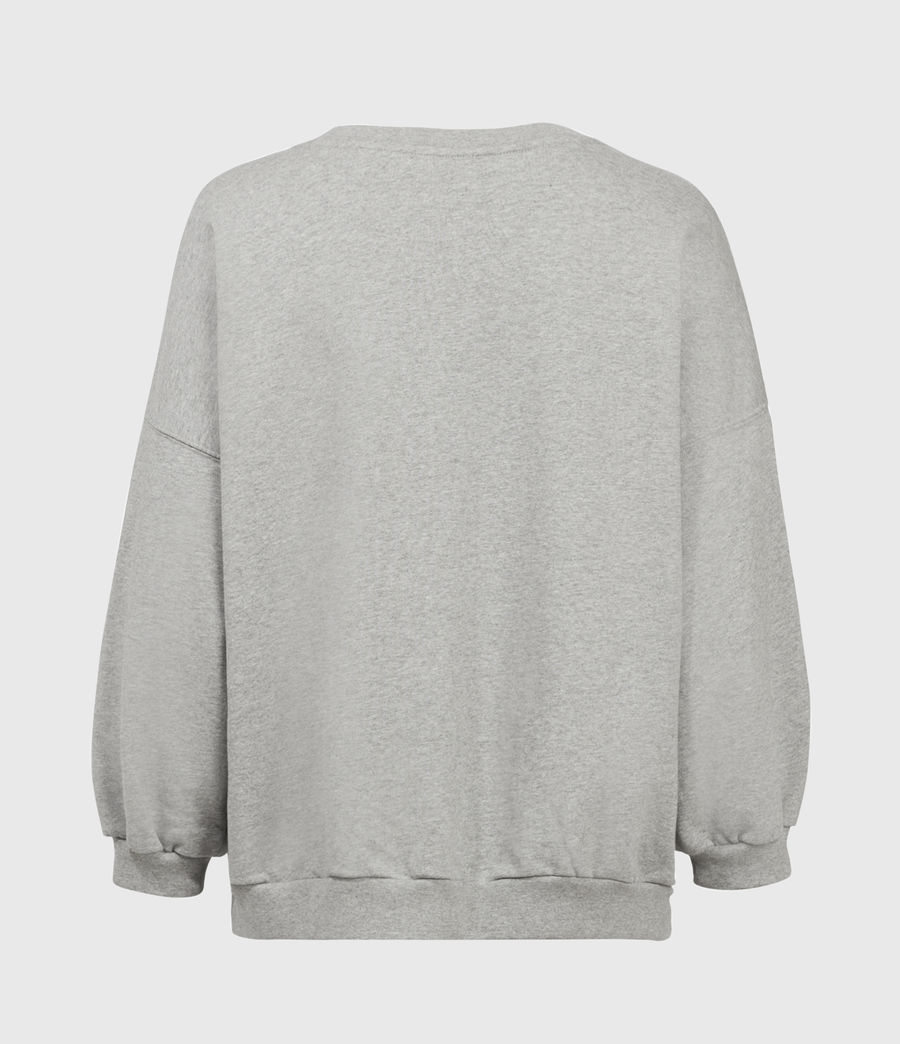Womens Stamp Storn Sweatshirt (grey_marl) - Image 3