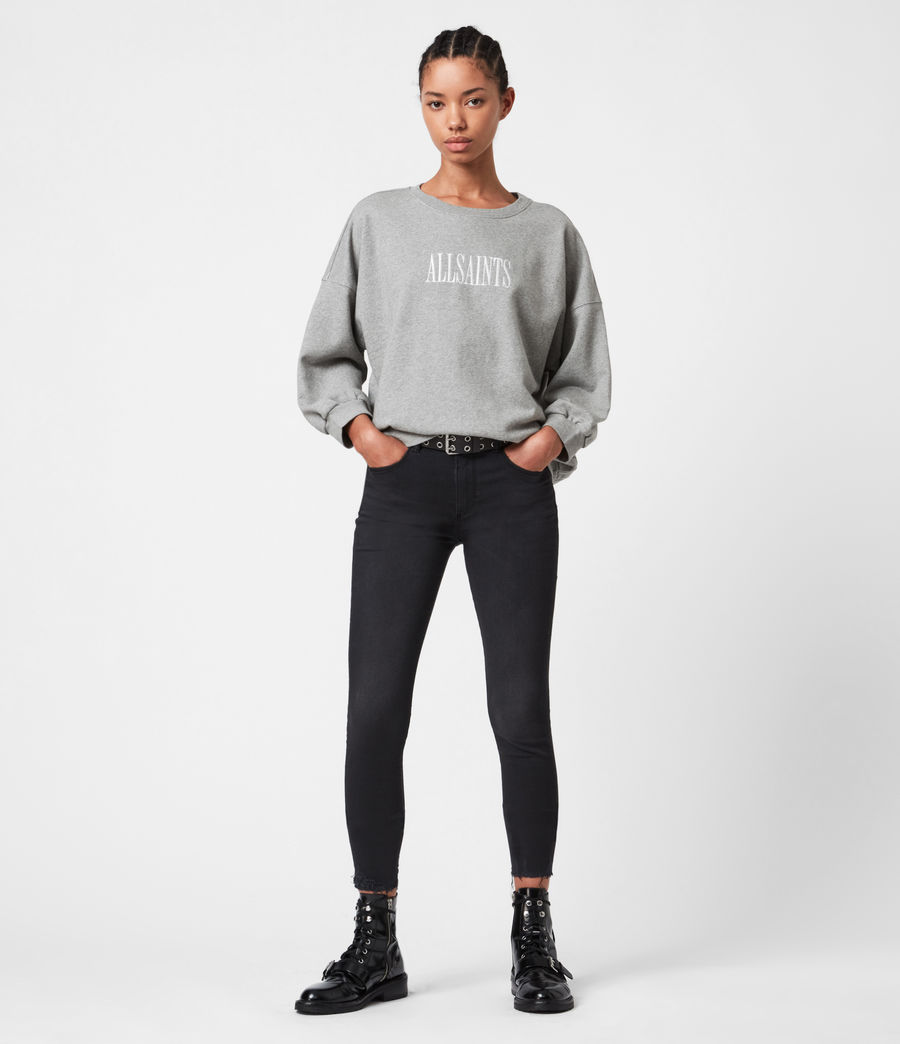 Womens Stamp Storn Sweatshirt (grey_marl) - Image 4