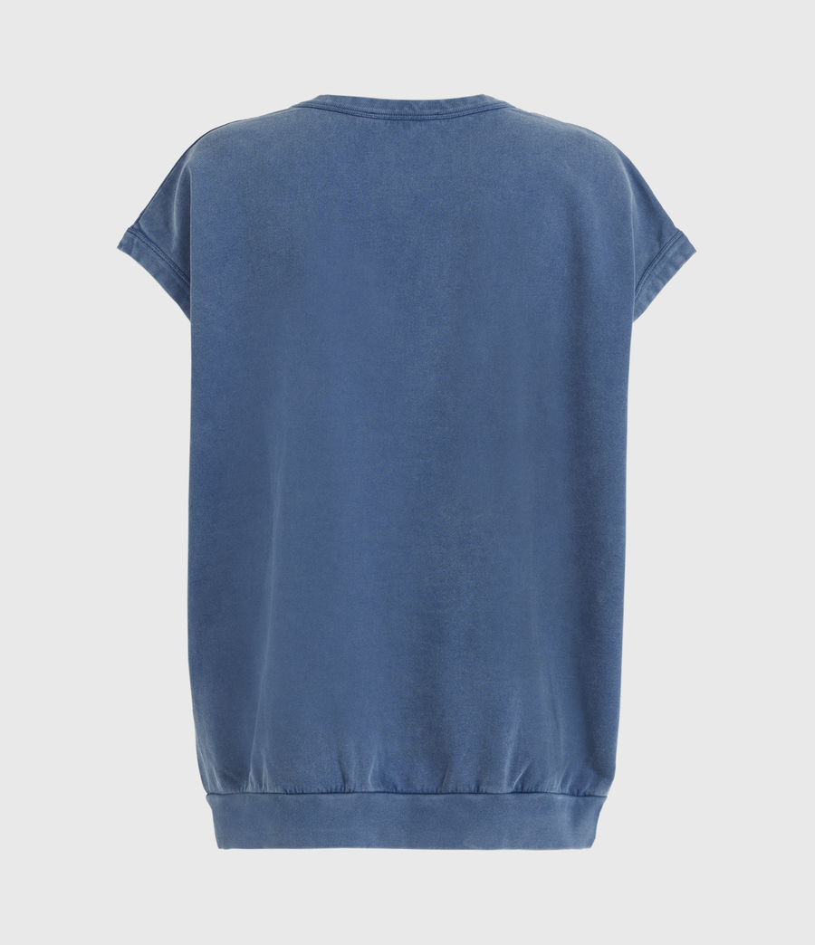 Womens Stamp Pelle Sweatshirt (acid_washed_blue) - Image 2