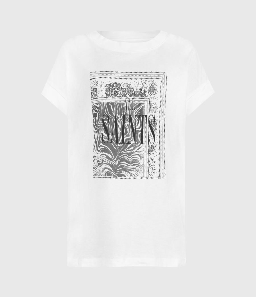 Women's Zebura Imogen Boy T-Shirt (white) - Image 1