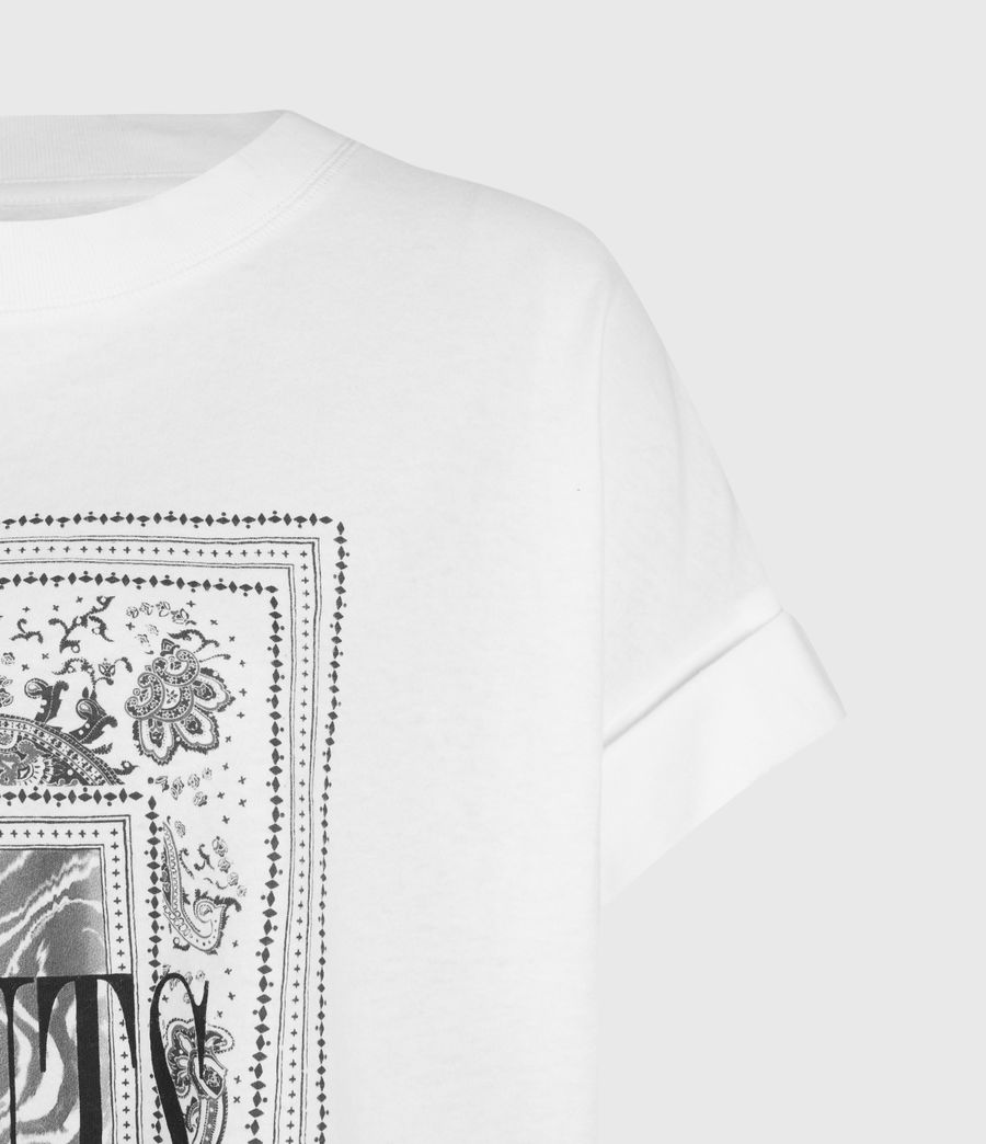 Women's Zebura Imogen Boy T-Shirt (white) - Image 3